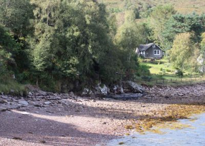 Coorie Cottage from beach