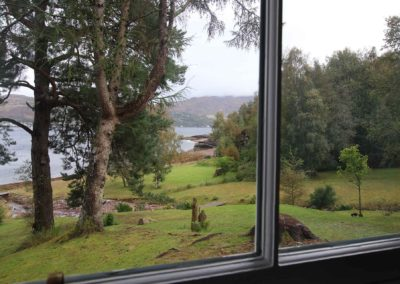 Lochbroom from cottage window