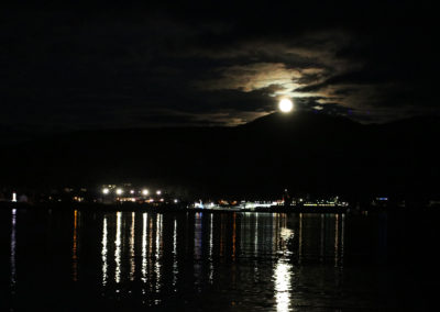 Moon over Ullapool from Coorie